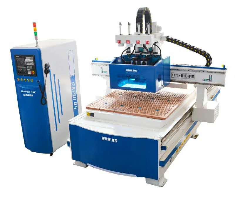 锐业锋1325双工序自动换刀2把木工雕刻机数控开料机柜体加工设备柜体加工机械